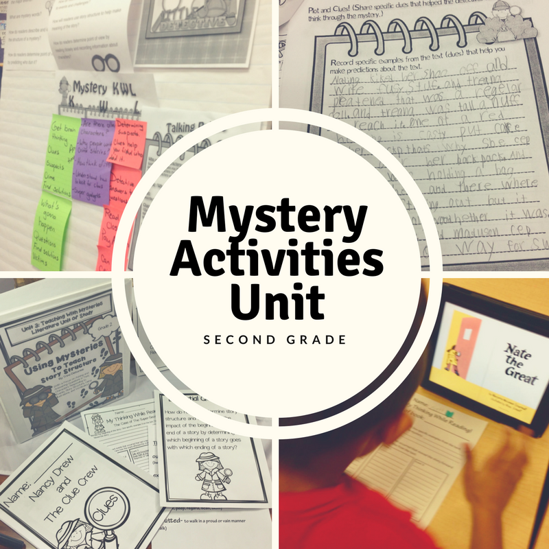 Mystery activities for kids is a really fun way to teach inferencing skills and other close reading standards with the Mystery genre. Kids love being detectives and exploring text.  -