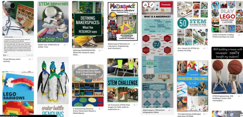 Trina Deboree's Makerspace and Literature Board