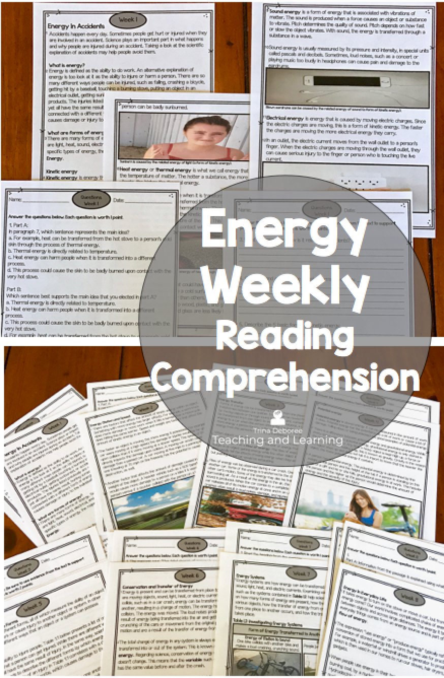 Energy Reading Comprehension Passages