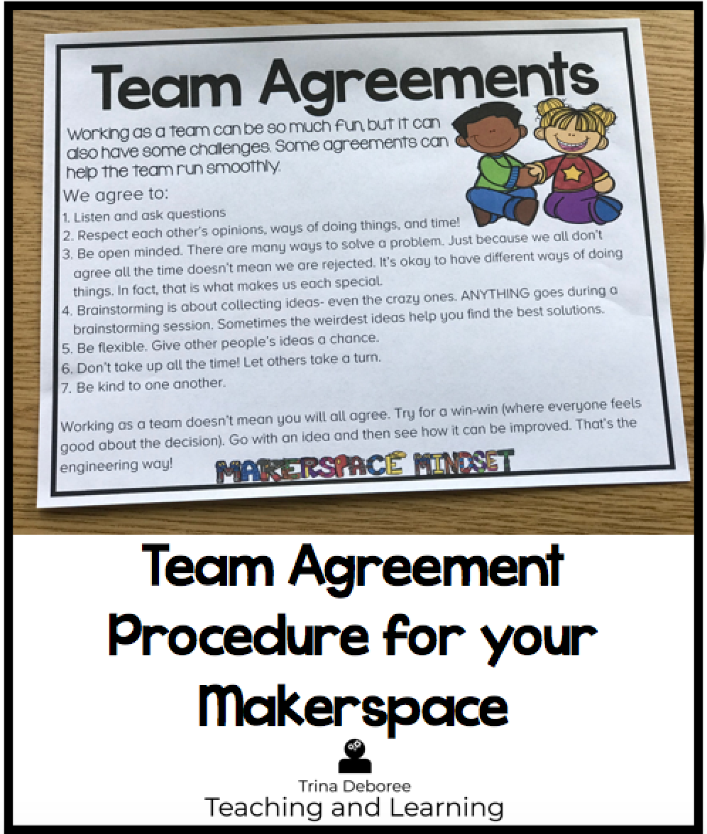How to Introduce Practical Procedures in Your Makerspace Team Agreement
