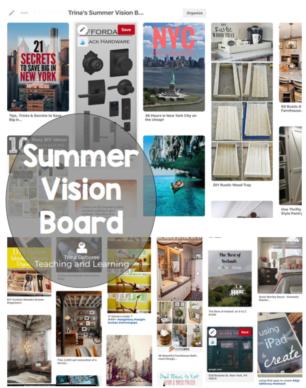 7 Ways to Survive and Thrive at the End of The School Year Summer Vision Board