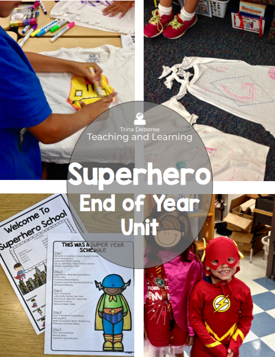 Superhero End of the Year Unit