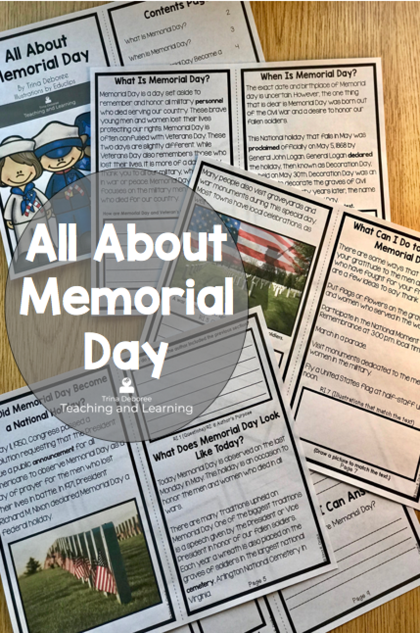 All About Memorial Day Reader