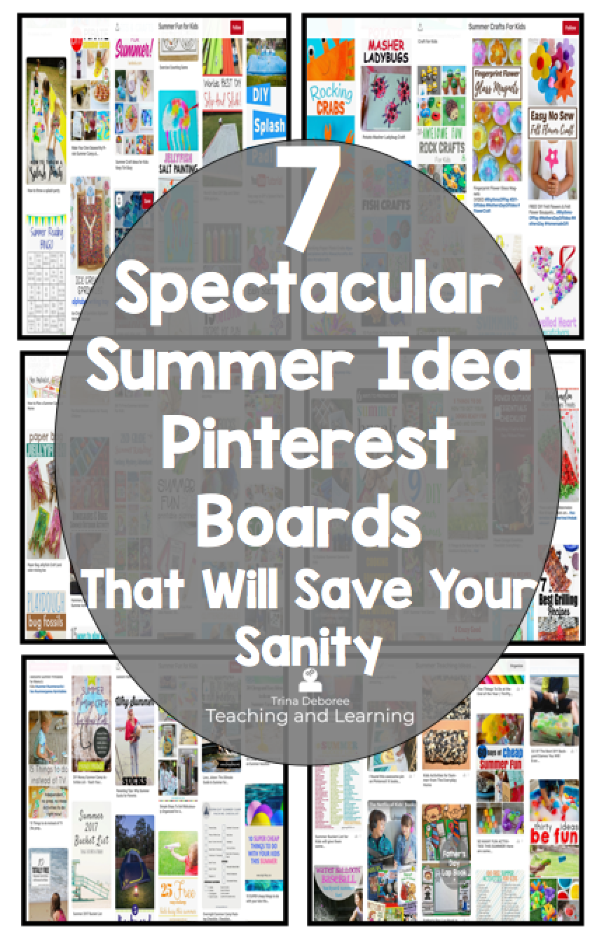 7 Spectacular Summer Idea Boards that Will Save Your Sanity