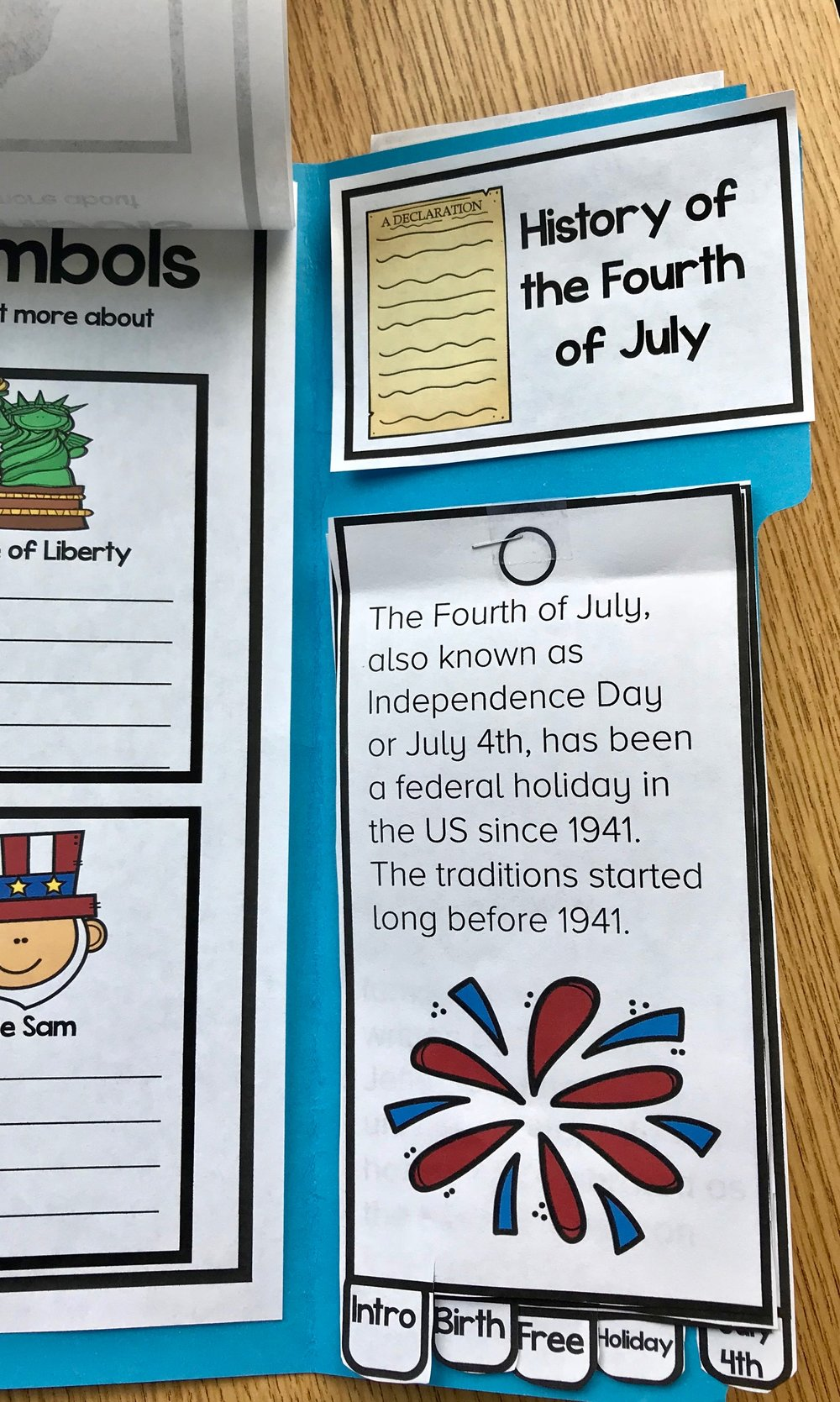 Fourth of July Lap Book