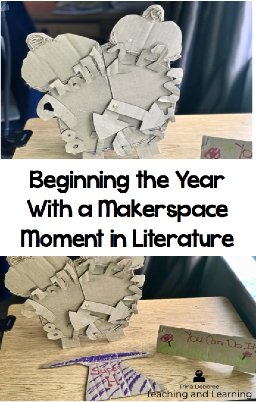 Beginning the Year With a MakerSpace Moment In Literature