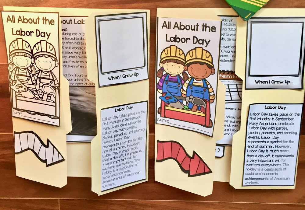 How to Create a Labor Day Activity for Kids #labordayactivity #labordaycraft #labordaylapbook