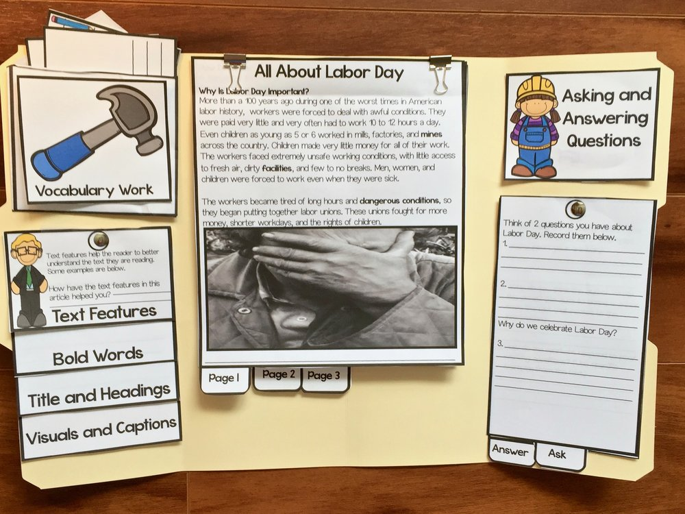 How to Create a Labor Day Activity for Kids #labordayactvity #labordaycraft #labordaylapbook #labordayactivitiesforkids