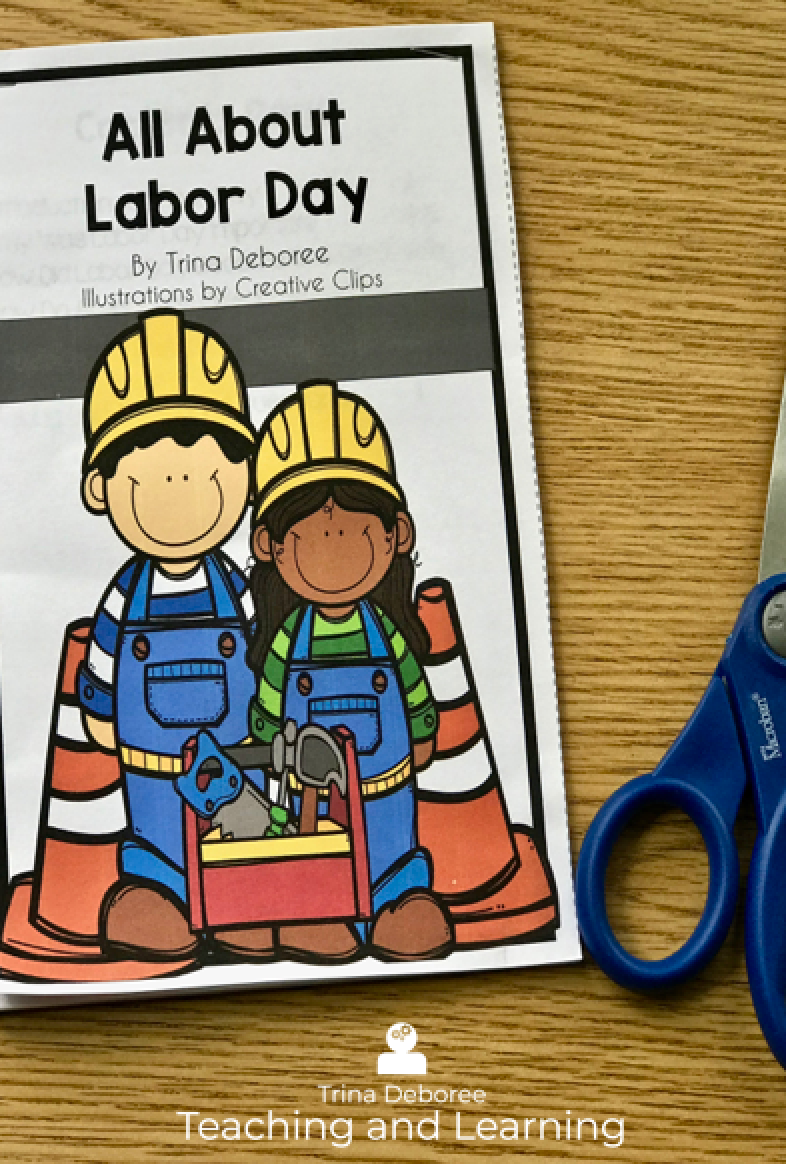 How to Create a Labor Day Activity for Kids #labordayactivity #labordaylapbook #labordayactivitiesforkids #labordayprintable