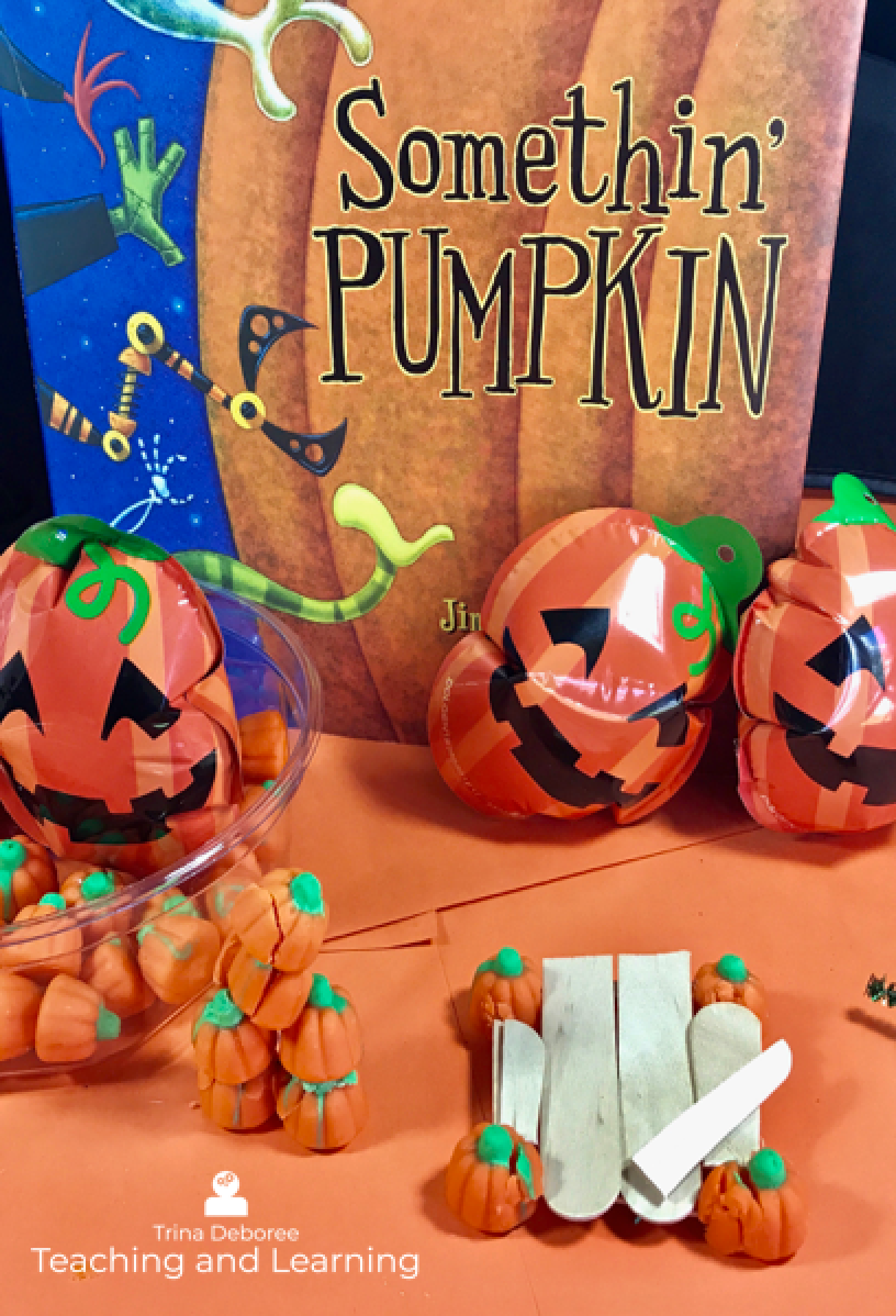 Somethin' Pumpkin is such a cute story for Halloween. It makes an engaging makerspace/ STEM extension, as well. #halloweenbooks #halloweenactivities #halloweenmakerspace #halloweenstem