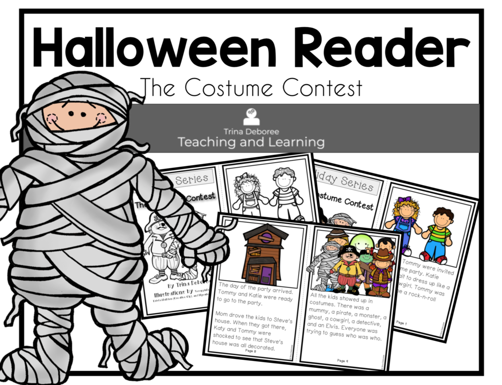 The Costume Contest Halloween Reader #halloweenreader #halloweenactivity