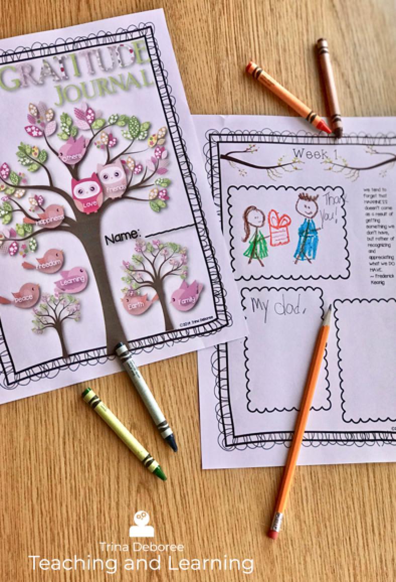 Gratitude Journal for Kids #gratitudejournal #gratitude