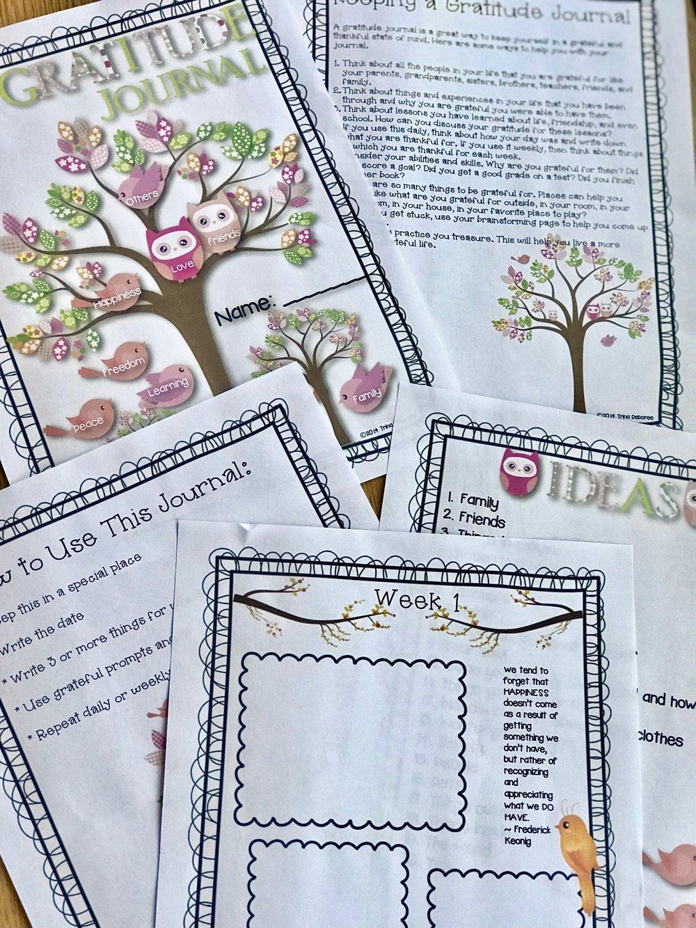 Gratitude Journal For Kids #gratitude #gratitudepractice #gratitudeactivity #gratitudejournal