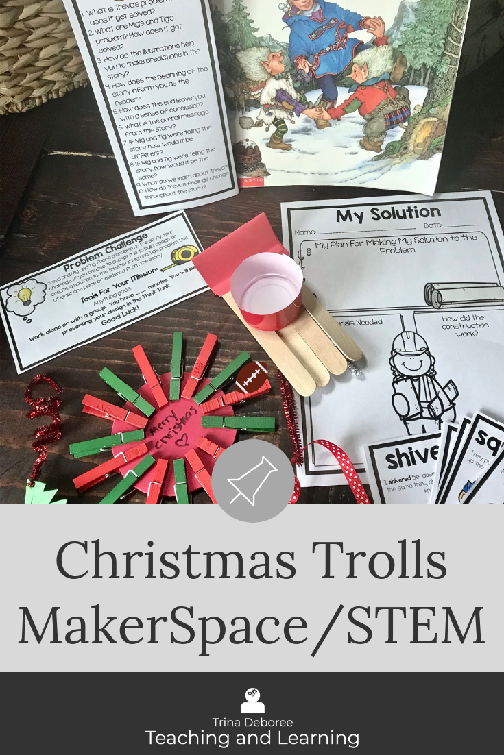 Christmas Trolls Makerspace/STEM Activity #christmasactivities #makerspace