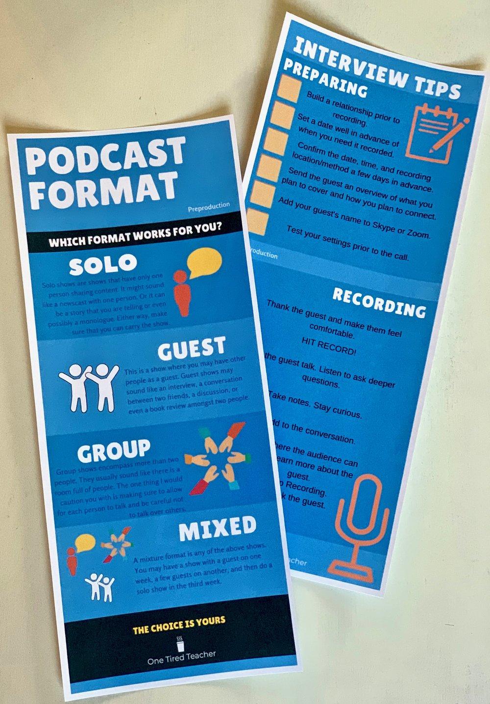Podcast format freebie