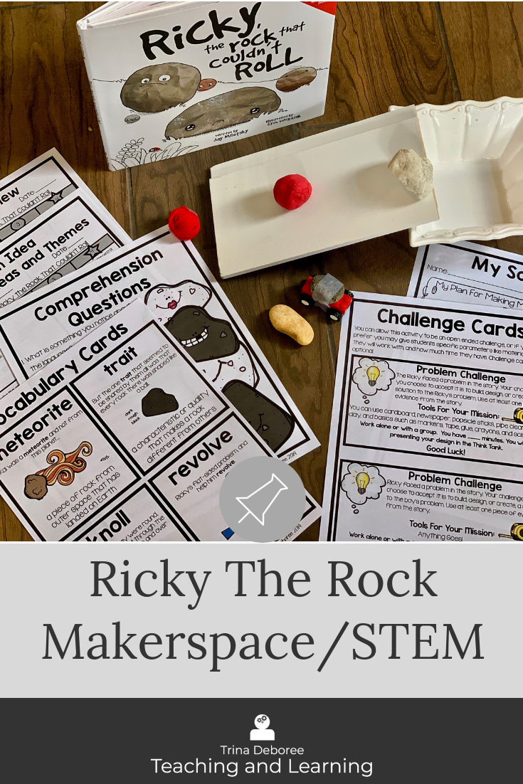 Makerspace in early elementary is filled with projects, designs, and ideas that inspire, motivate, and challenge children in the classroom or library. This makerspace moment in literature takes an adorable book about a rock that cannot roll and allows students to analyze the characteristics of rocks and create a solution for helping rocks roll. Your kids will use critical thinking skills and problem solving strategies to determine solutions.
