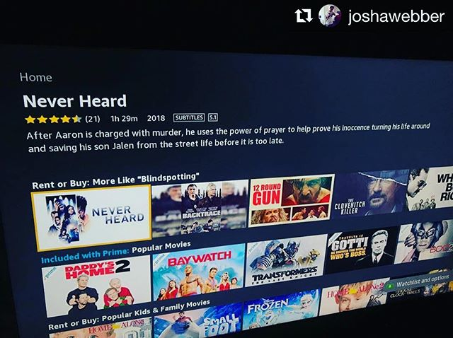 #Repost @joshawebber ・・・ Looking for a fun movie to watch tonight?? Check out @neverheardmovie now available on-demand & online. ✅🍿💯 #neverheardmovie #webberfilms #rivetingent #itunes #amazon #timewarnercable #dishnetwork