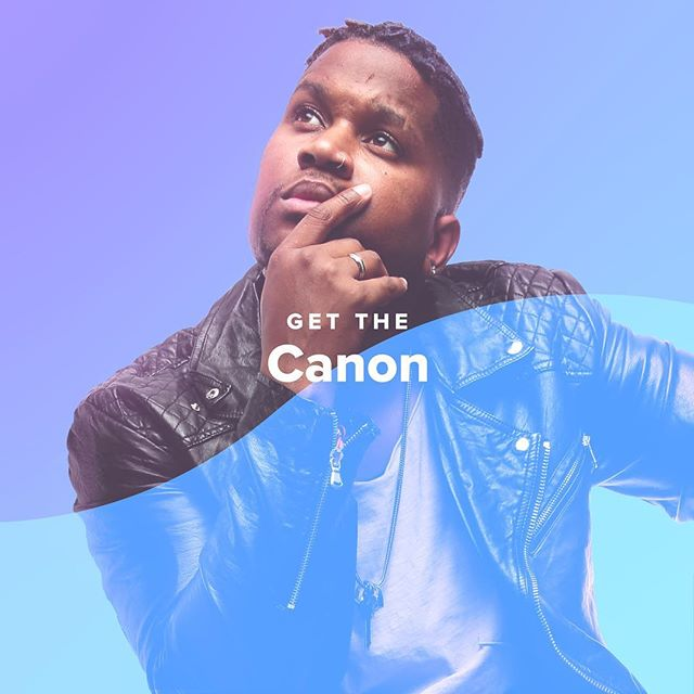 "New to my music? Cool, I got you! Been a fan for years? I got you too! Follow my ""Get The Canon"" playlist on @spotify for new music, last hits, and some of my personal favorites. Link in bio!"