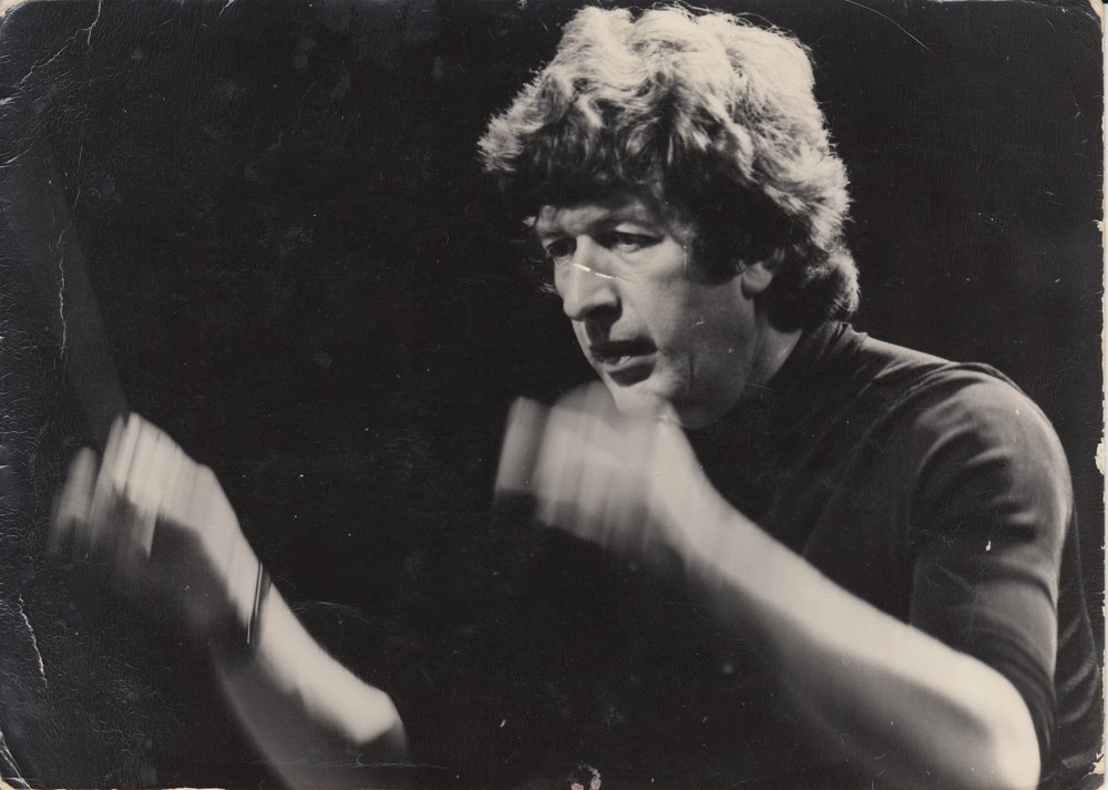 Frederic Devreese, composer, in a photo given to me at our first meeting in 1981