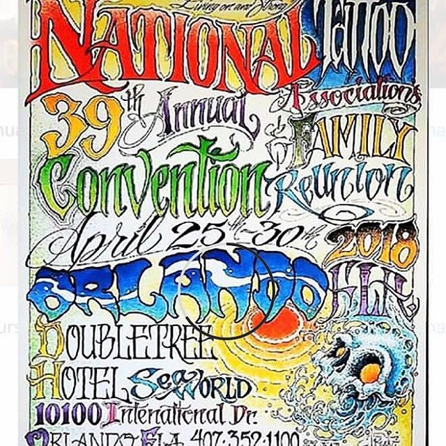 Here this weekend at the #nationaltattooconvention don't miss out this is it ! great artist from all over , family fun , great tattooing and more , like I said don't miss out . #orlando #florida #tattoos #kissimmee #edgewood #windermere #gotha #ocoee #winterhaven #winterpark #maitland  #floridatattoos  #nationaltattooassociation  at the seaworld doubletree sat-sun