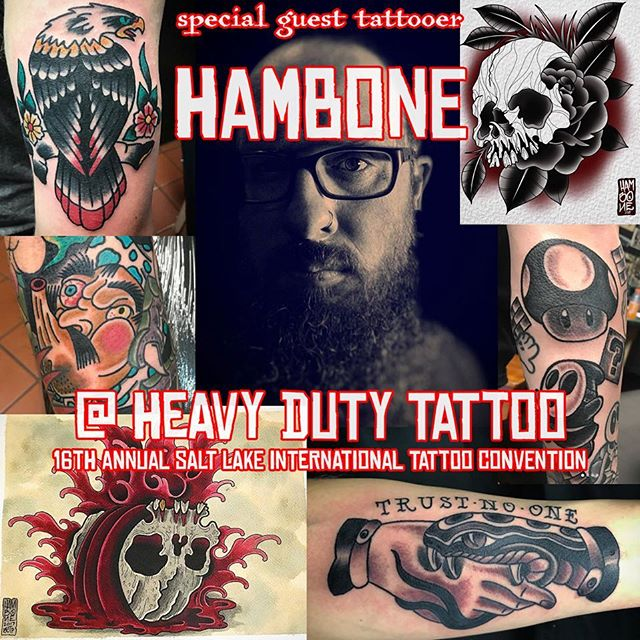 @hambone509 will be with us at the @slctattoo_convention Feb 22nd to 24th