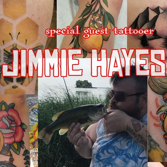 Oh snap!  @jimmiehayestattoos is here in the shop, taking walk ins!  Whaaa?! Call or stop by!