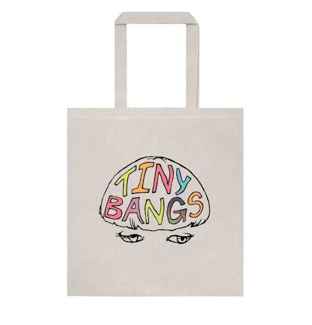Tiny Bangs tote, exclusive to Kickstarter.