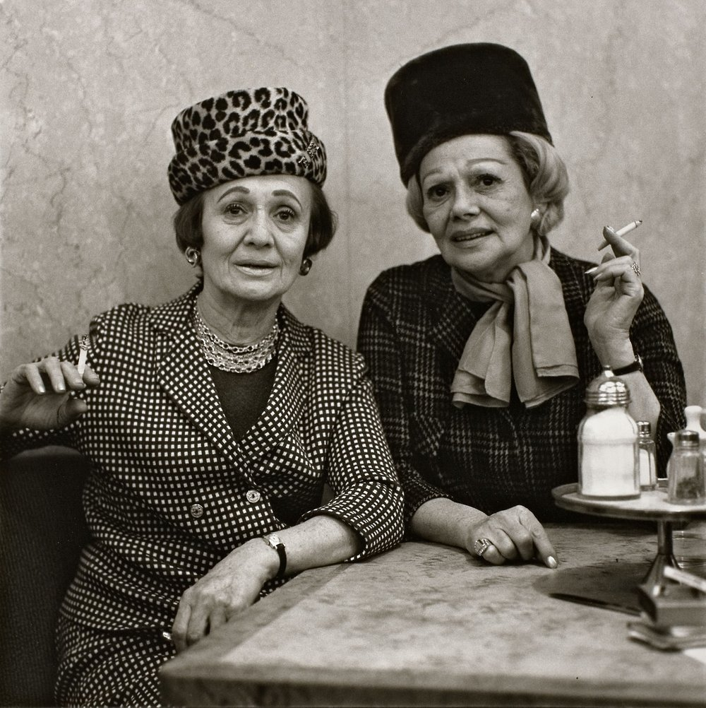two ladies at the automat  - diane arbus