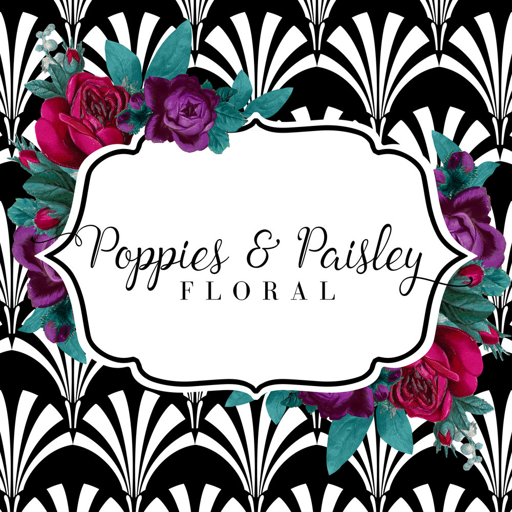 Poppies and Paisley Floral