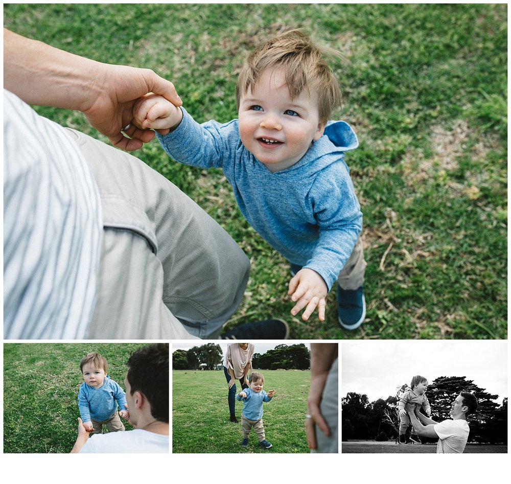 children and parents at the park, bayside parks and toddler photography