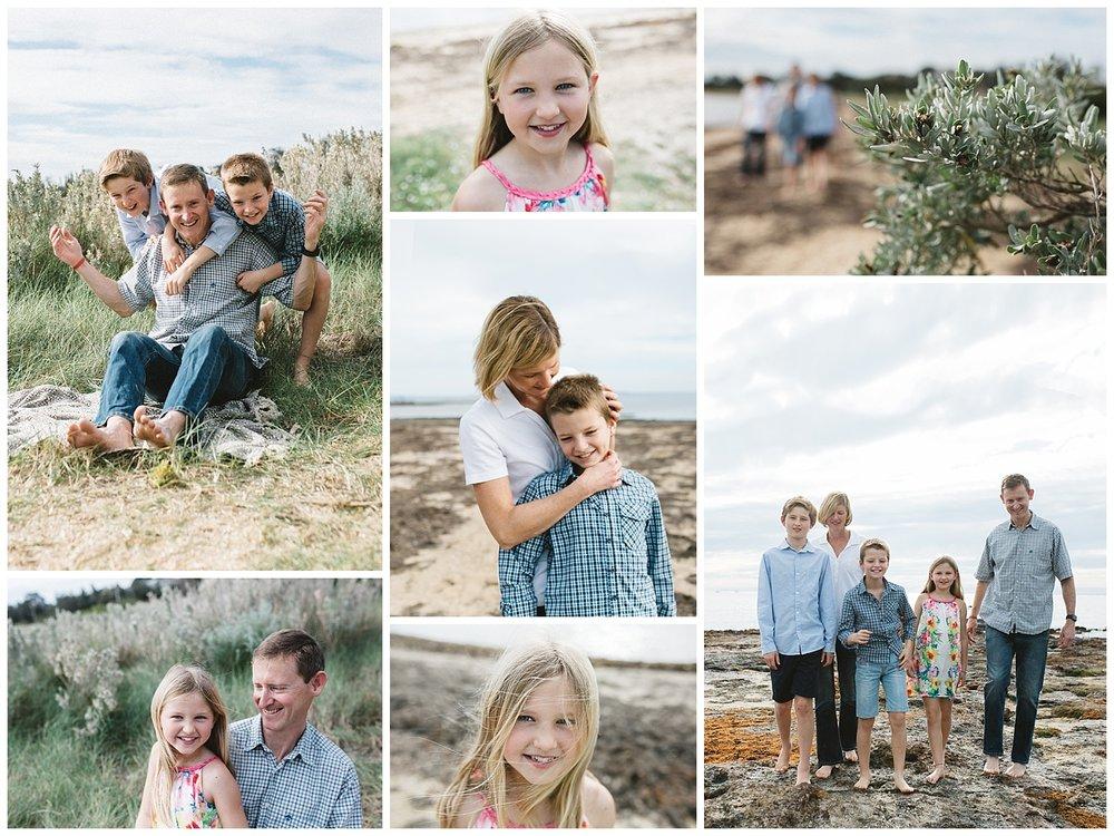 beach family photographer bayside melbourne