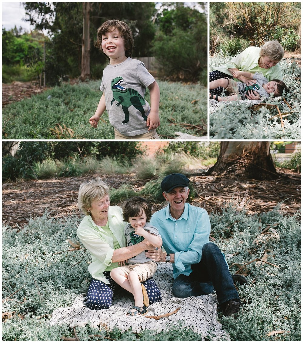 melbourne grandparents photography session at the park