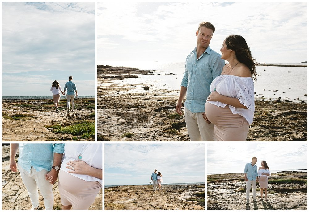Port Melbourne and pregnancy and newborn photography session