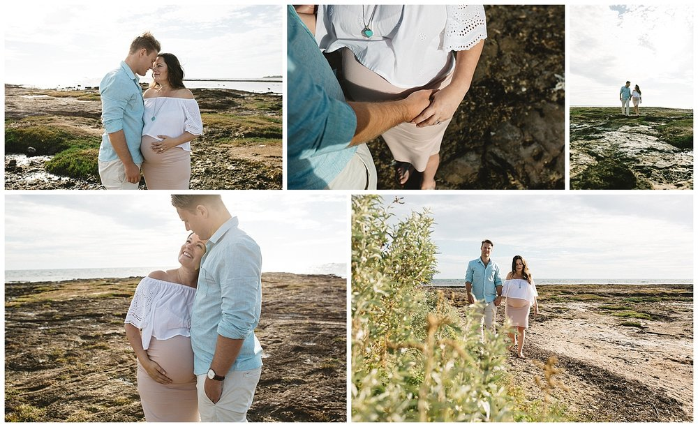great places for a pregnancy photography session in autumn port melbourne