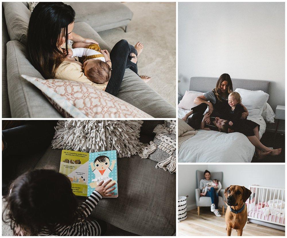 mornington children and newborn portraits taken at home