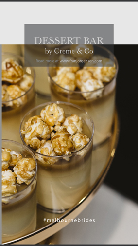 dessert bars in melbourne weddings, a variety of desserts is a perfect way to spoil your guests