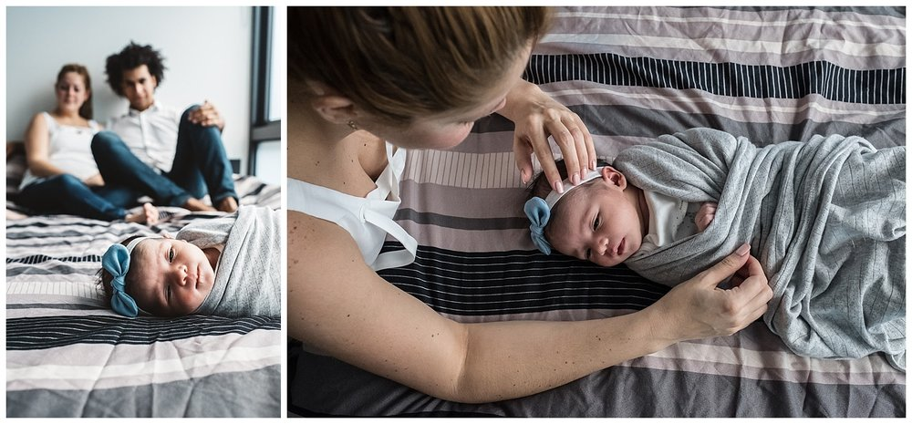 candid moments and genuine emotions in newborn photography at home in Carlton north