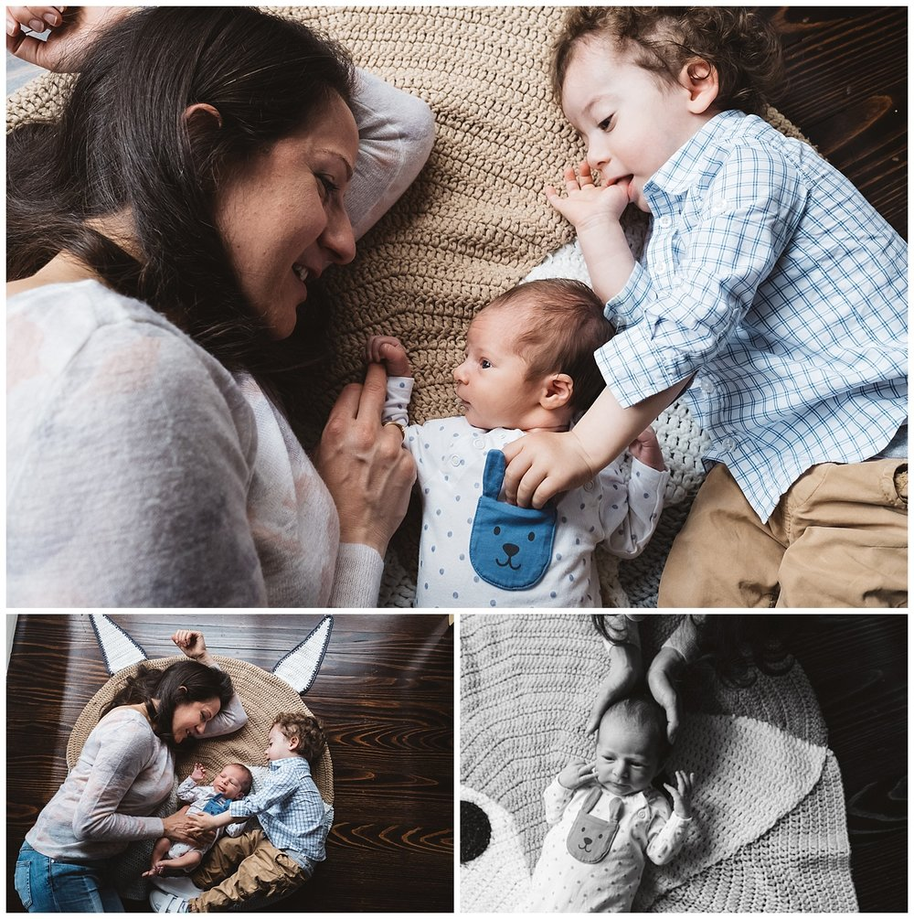 family photos at home and newborn photography in beaumaris