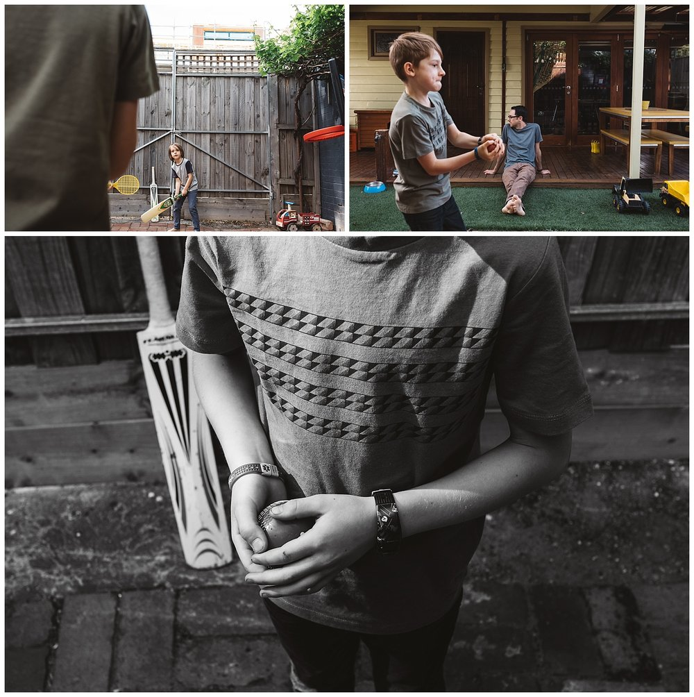 Families in the backyard having fun in summer, family photography sessions in Footscray and Port Melbourne