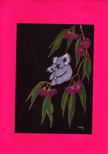 Koala and Baby in Gum Blossoms 2-s.PNG
