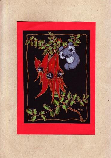 Sturt's Desert Pea and Koala-s.PNG
