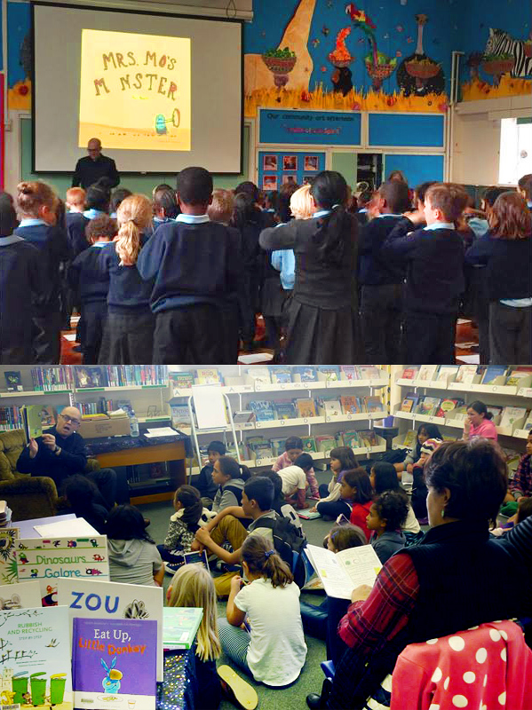 Top: Bocuher School, Bermondsey,  London UK, 2015  Bottom: Cannons Creek Library, Wellington NZ, 2014