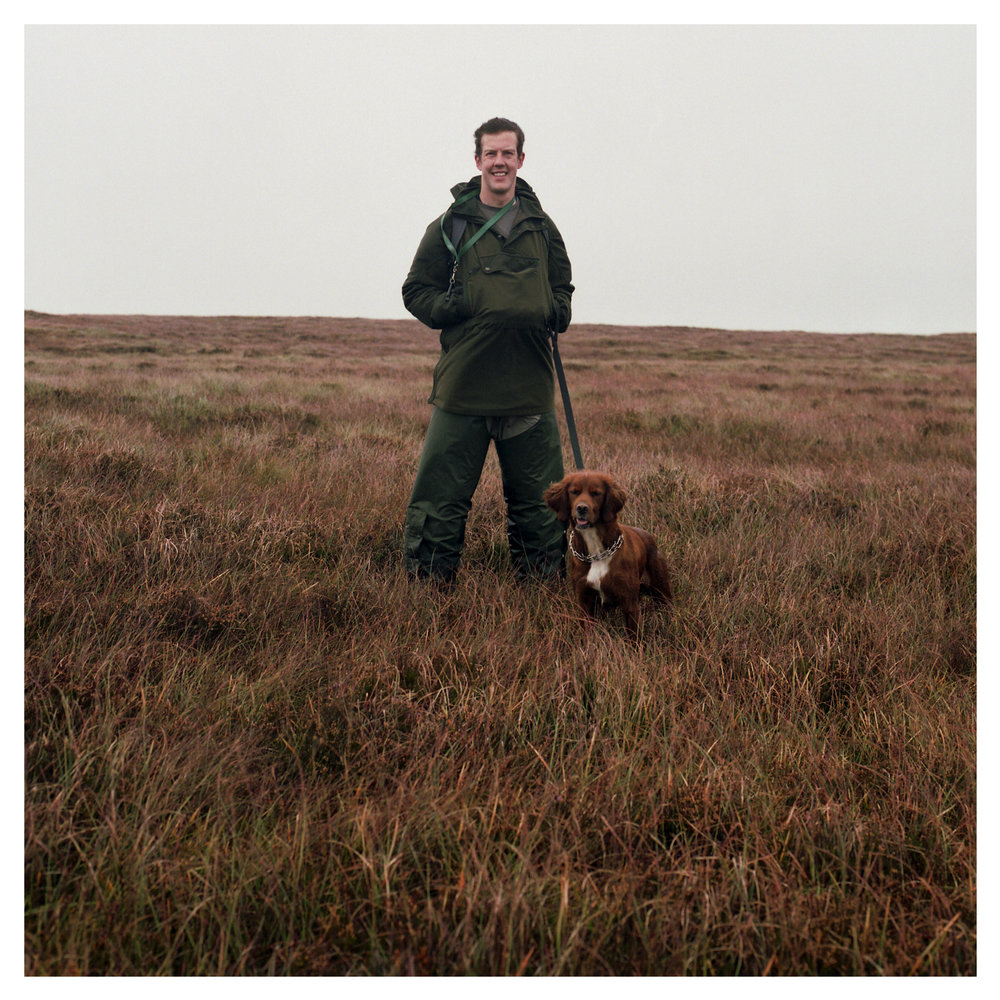 Hugh Brady with Red Setter - Gin