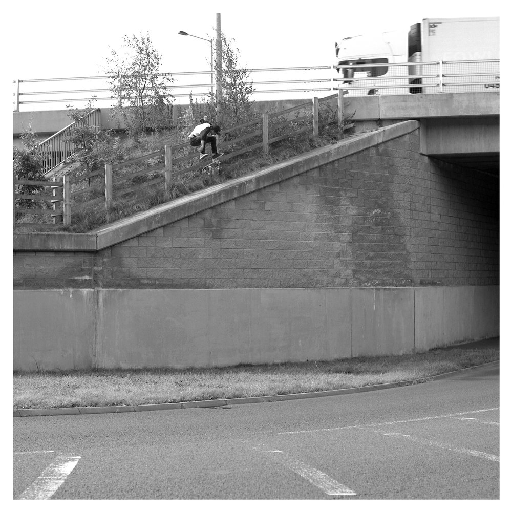 Marc Beggan nollie heel - A1 underpass.  As published in issue 3 of Florecast Mag.