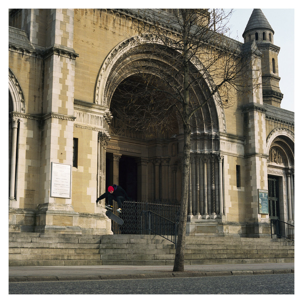 Marc Beggan tre flip - St. Annes Cathedral.