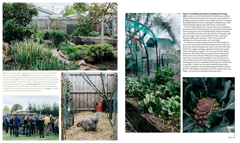 Ben Shaw Permaculture and Little Green Corner for Green magazine. Photo: Marnie Hawson