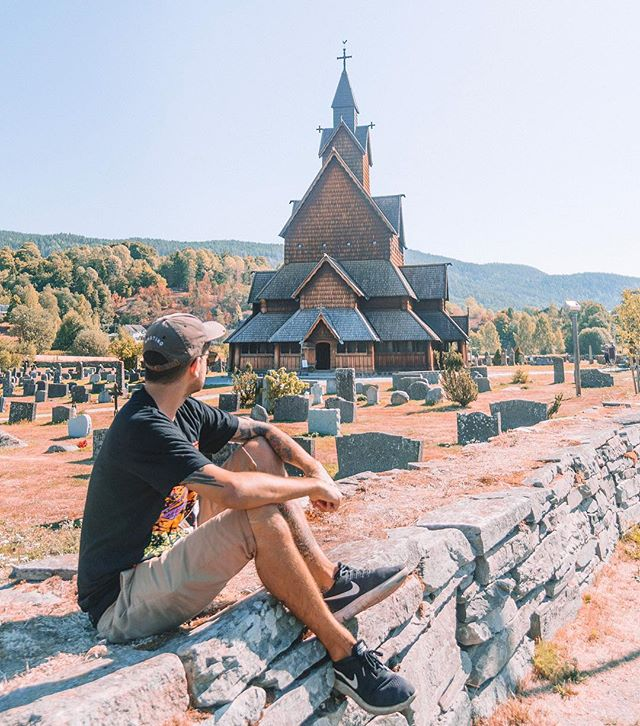 We love exploring small towns wherever we go in the world. But, there's something particularly special about Scandinavia ⚔️ 🏔 as their history and architecture is so wildly different than most cultures.  These Stave churches are a great example of that and are always mind blowing.  This one is in Heddal, Norway 🇳🇴 and is the largest in the country.  It was constructed at the beginning of the 13th century. Pretty cool, huh?! Have you ever seen one before?!