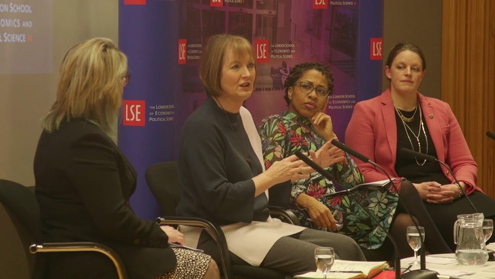On a panel at London School of Economics (LSE) with Harriet Harman MP discussing the topic:  Women in Work: An unfinished revolution?  March 2017