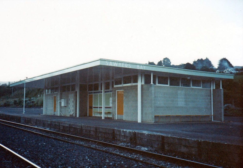 Sawyers Bay Station 1986 -Photograph by Geoffrey White