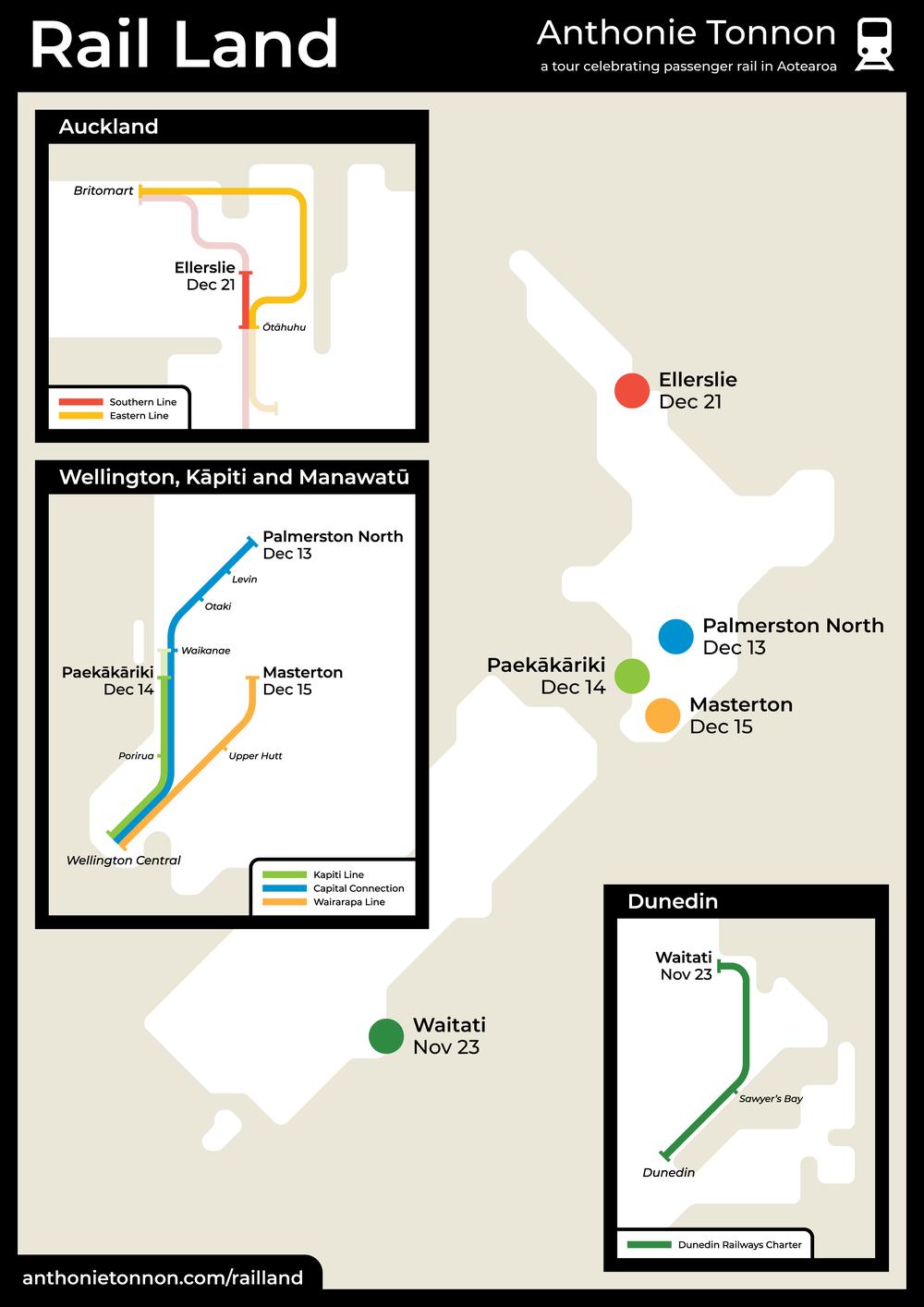 Rail Land schematic map -Sam van der Weerden